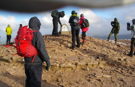 Walkers at summit of Pen y Fan (Endurance Route)