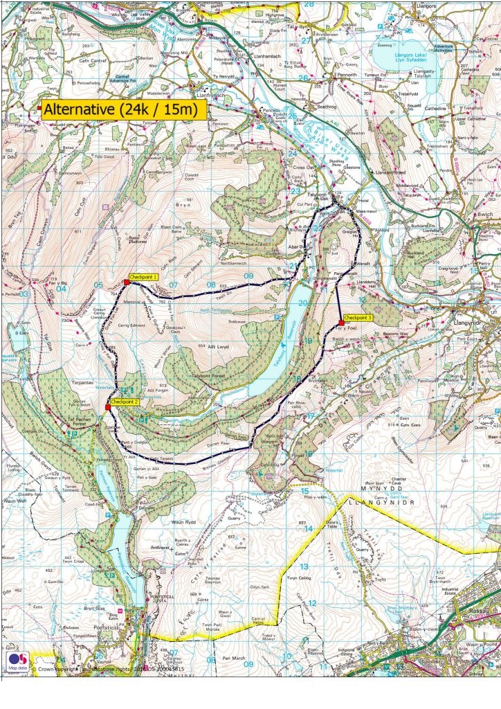 Beat The Beacons alternative route