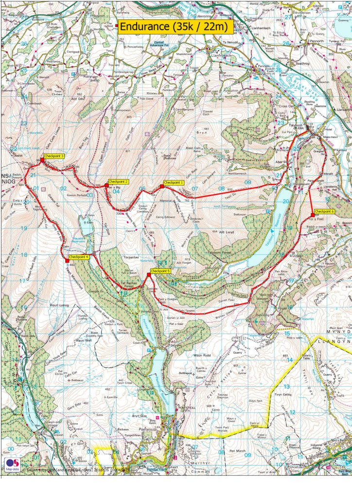 Beat The Beacons Endurance Route