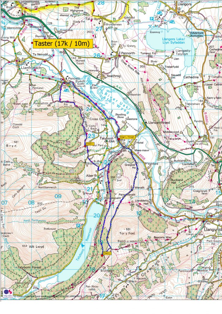 Beat The Beacons taster route