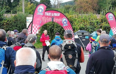 Beat The Beacons – Walkers Being Briefed at Start